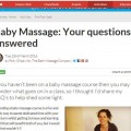 Q&A for BathMums website